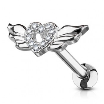 Heart Wing Tragus Bar